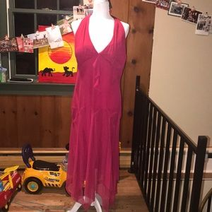 EUC Pink Halter Top Formal Dress